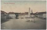 AK Gruss aus Königsbrück Markt mit Rathaus und Ratskeller Soldatenkarte 1910