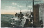 AK Torpedoboot Division in geschlossener Ordnung Soldatenkarte 1911
