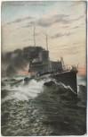 AK Torpedoboot in voller Fahrt Soldatenkarte 1911