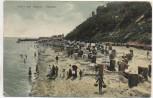 AK Ostseebad Sellin auf Rügen Strand mit Menschen 1924