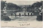 AK Stuttgart Anlagensee mit Königl. Schloss und Menschen 1904