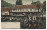 AK Alexisbad Hotel Goldene Rose mit Menschen b. Harzgerode 1909