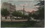 AK Chemnitz Theaterplatz mit Siegesdenkmal Soldatenkarte 1911