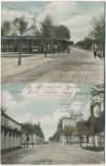 AK Truppen-Übungsplatz Zeithain Senfftstrasse Rabenhorststrasse Soldatenkarte 1909