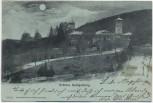 Mondschein-AK Gruss aus Jugenheim Schloss Heiligenberg b. Seeheim Darmstadt 1897