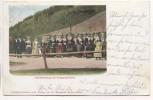 Litho Hochzeitszug im Schapbachtal Rippoldsau Schapbach 1902
