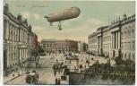 AK Berlin Schlossplatz mit Zeppelin Soldatenkarte 1910
