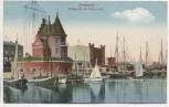 VERKAUFT !!!   AK Stralsund Hafenpartie mit Lotsenwache Schiffe 1910