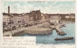 VERKAUFT !!!   AK Hamburg Alter und neuer Jungfernstieg 1902