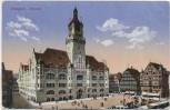 AK Stuttgart Rathaus mit Markt Feldpost 1915