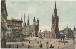 AK Halle an der Saale Marktplatz 1912