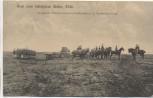 AK Gruß vom Schießplatz Wahn Rheinland Bespannte Batterie schwerer Feldhaubitzen in Paradestellung b. Köln Soldatenkarte 1909