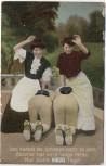 AK Und klatscht der Schinken ... Frauen mit Soldaten Soldatenkarte 1910