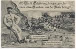 AK 1000 Mark Belohnung ... alter Knochen Soldat Drücker Soldatenkarte 1909