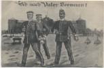 AK Ab nach Vater Seemann ! Matrosen vor Kaserne Kiel Soldatenkarte 1910