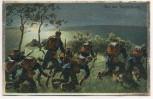 AK Bei der Nachtübung Soldaten mit Pickelhaube Soldatenkarte 1911