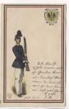 AK Soldat mit Gewehr Adler im Wappen 1908