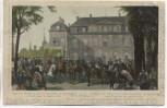 AK Reichshofen Abmarsch Mac Mahon's Generalstab 1870 Reichshoffen Elsass Bas-Rhin Frankreich 1905