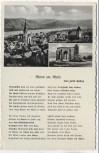 VERKAUFT !!!   AK Rhens am Rhein Ortsansicht mit Königsstuhl und Gedicht 1935