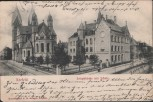 AK Krefeld Josephkirche mit Schule 1903