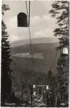 AK Foto Blick vom großen Arber mit Schwebelift zum Zwercheck b. Bayerisch Eisenstein Bodenmais 1960