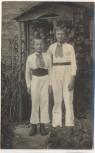 AK Foto 2 Jungen in Tracht Lützen 1913