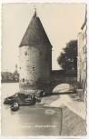 AK Foto Passau am Inn Pulverturm mit Fähre 1940