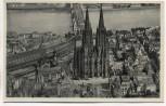 AK Köln am Rhein Fliegeraufnahme mit Hauptbahnhof und Dom 1935