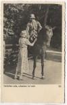 AK Foto Soldat mit Helm auf Pferd Liebchen ade, scheiden tut weh 1938