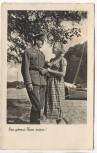 AK Foto Soldat mit Frau Ein getreues Herze wissen ! 1939