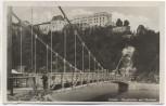 AK Foto Passau Hängebrücke mit Oberhaus 1930