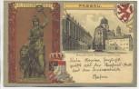 AK Passau Bischöfliche Residenz und Dom Wappen mit Bavaria 1920