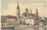AK Gruss aus Passau Rathaus und Dom 1910