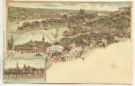 AK Gruss aus Passau Totalansicht 1900