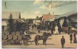 AK Passau Gruß vom Passauer Maidult Offizielle Maidultkarte Pferde Karren Menschen Bierfässer 1910 RAR Sammlerstück