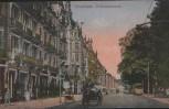 AK Wiesbaden Wilhelmstrasse mit Pferdekutsche 1919
