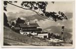VERKAUFT !!!   AK Foto Berchtesgaden Haus Wachenfeld des Reichskanzler Hitler a. Obersalzberg mit Fahne und Autos 1934
