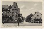 AK Foto Gruß aus Homburg / Saarpfalz Bismarckplatz mit Hotel Homburger Hof und Speiselokal 1940 RAR