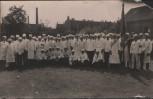 AK Schönebeck / Elbe Innung Koch Köche Gruppenbild mit Fahne 1940