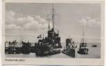 AK Ostseebad Eckernförde Kriegsschiff und U-Boot mit Fahnen 1943 RAR