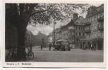 AK Foto Konstanz am Bodensee Marktstätte mit Bus 1940