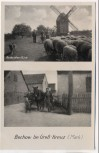 VERKAUFT !!!   AK Bochow bei Groß Kreutz An der alten Mühle 1950 RAR