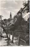 AK Foto Stadtsteinach Frankenwald Weg mit Kirche 1955
