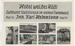 AK Stadtsteinach im schönen Frankenwald Hotel weißes Rößl 6 Bilder 1955