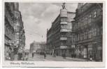 AK Foto Gleiwitz Gliwice Wilhelmstraße mit Menschen Schlesien Polen 1941