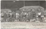 AK Foto Sassnitz Gruppenbild am Strand Ostsee Rügen 1930