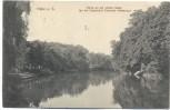 VERKAUFT !!!!!     AK Halle a. S. Partie an der Wilden Saale an der Überfahrt Peissnitz Heideweg 1912 RAR