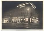 AK Foto München Rheinischer Hof bei Nacht Löwenbräu Werbung 1940