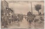 AK Skopie Skopje Üsküb Hochwasser im Mai 1916 Eleonoren Ufer Menschen Mazedonien Feldpost 1916