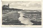 AK Ostseebad Kolberg Badestrand mit Strandschloss Kołobrzeg Pommern Polen 1938